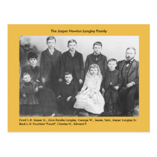 Jasper Newton Langley Family Postcard