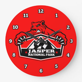 Jasper Red Bear Clock