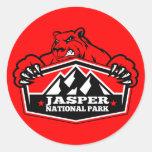 Jasper Red Bear Round Stickers