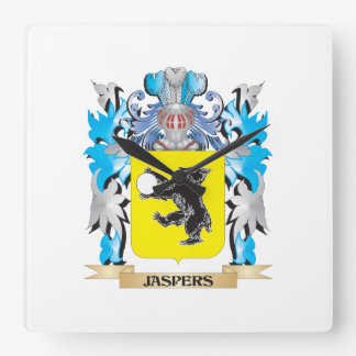 Jaspers Coat of Arms - Family Crest Square Wallclock