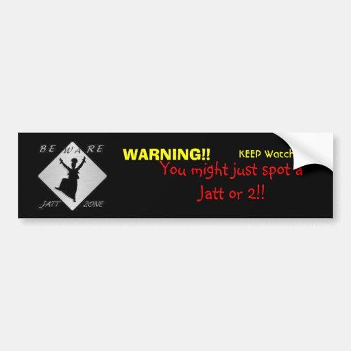 Jatt Zone Bumper Sticker | Zazzle