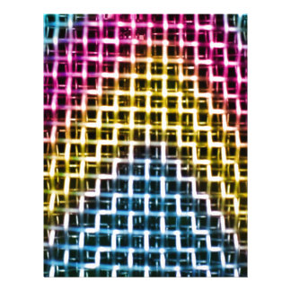 Jaula colorida de la rejilla del alambre membrete a diseño