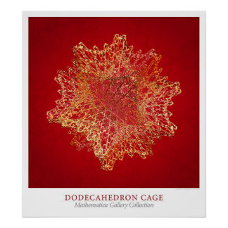 Jaula de Dodecahedron Posters