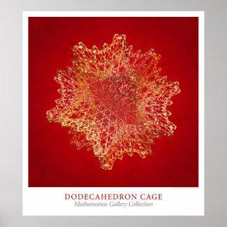 Jaula de Dodecahedron Póster