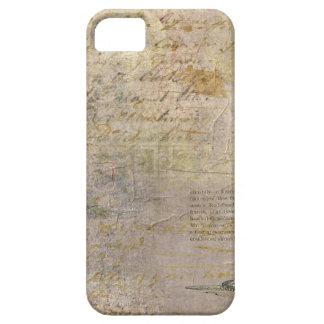 Jaula de pájaros del vintage con la escritura iPhone 5 coberturas
