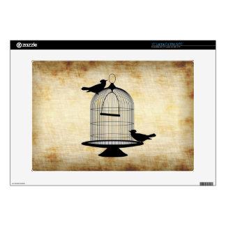 Jaula de pájaros del vintage portátil calcomanía
