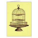 Jaula de pájaros del vintage tarjetas