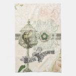 Jaula de pájaros elegante lamentable inspirada fra toalla