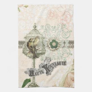 Jaula de pájaros elegante lamentable inspirada fra toallas de mano