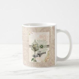Jaula de pájaros elegante lamentable inspirada taza
