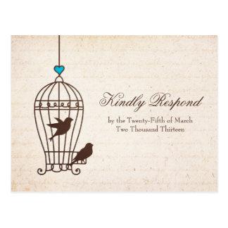 Jaula de pájaros imaginaria - chocolate y trullo q tarjeta postal