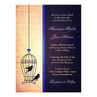 Jaula de pájaros imaginaria con casarse de Blue Ri Comunicado Personalizado
