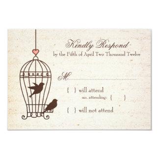 Jaula de pájaros imaginaria - rosa y chocolate que anuncio personalizado
