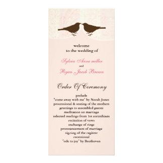 Jaula de pájaros rosada elegante, pájaros del amor diseños de tarjetas publicitarias