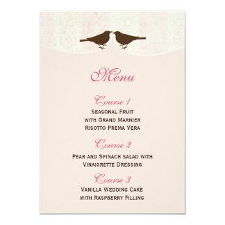 Jaula de pájaros rosada elegante, tarjetas del invitación 12,7 x 17,8 cm