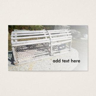 jaula o trampa de madera vieja de la langosta tarjetas de visita
