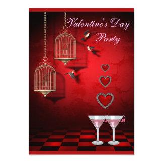 Jaulas de pájaros del fiesta de la tarjeta del día invitación 12,7 x 17,8 cm