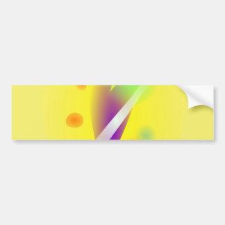 Jaune Brillant Bumper Stickers