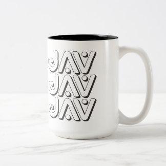 JAV - I Love Watching Japanese Adult Videos, Onyx Two-Tone Coffee Mug