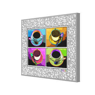 Java Addictions COFFEE Pop Art Gallery Wrapped Can Canvas Print