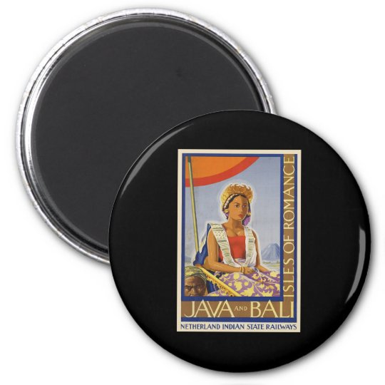 Java and Bali Isles of Romance Magnet