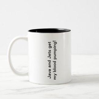 Java and Jets Two-Tone Coffee Mug