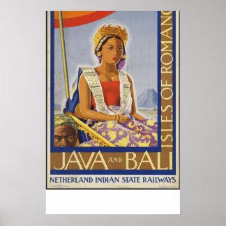 Java Bali Vintage Travel Poster Ad Retro Prints