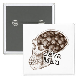 Java Bean Man 2 Inch Square Button
