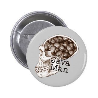 Java Bean Man Pinback Button