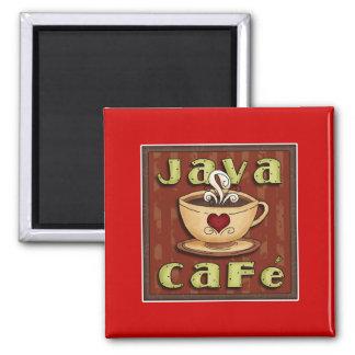 java cafe 2 inch square magnet
