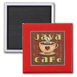 java cafe fridge magnets