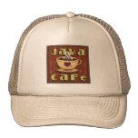 Java Cafe fun word art coffee hat