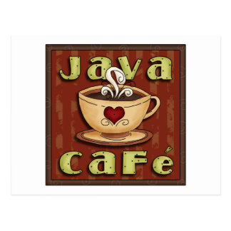 java cafe post card