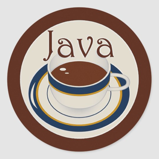 Java Classic Round Sticker