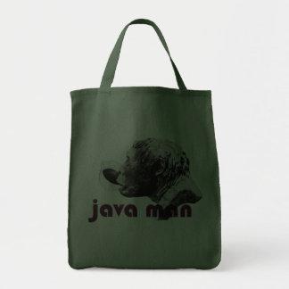 Java Clay Man Canvas Bags