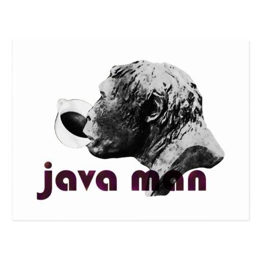 Java Clay Man Postcard
