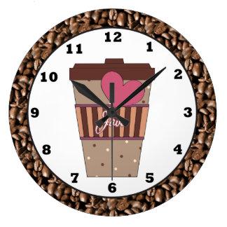 Java Coffee cup Kitchen wall clock