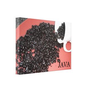 Java Coffee Design Canvas Print