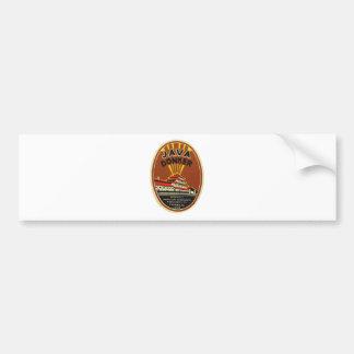 Java Donker vintage beer label Bumper Sticker