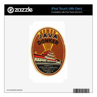 Java Donker vintage beer label iPod Touch 4G Skin