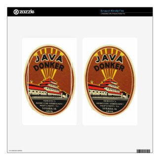Java Donker vintage beer label Kindle Fire Decal