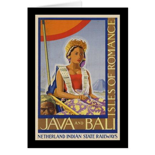 Java e islas de Bali del romance Tarjeta De Felicitación