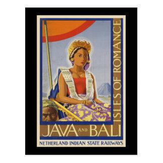 Java e islas de Bali del romance Postal