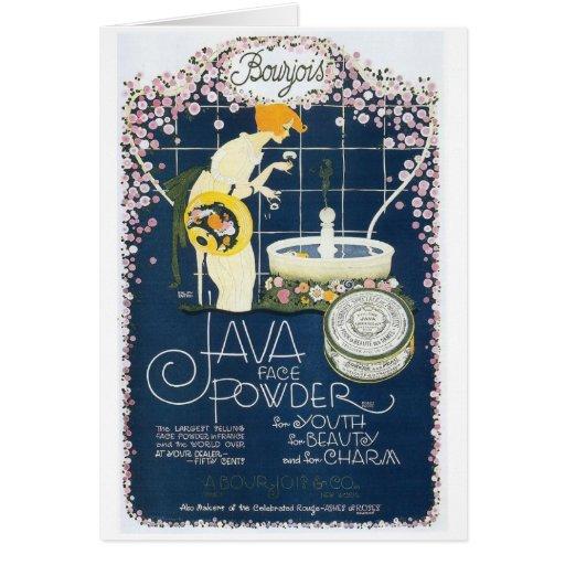 Java Face Powder, Greeting Card
