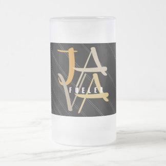 Java Fueled Frosted Glass Mug