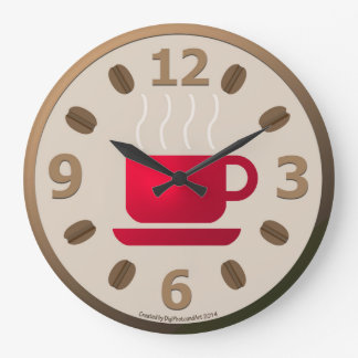 Java in the Morning Large Clock