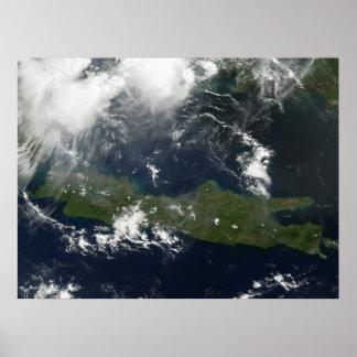 Java, Indonesia - Indonesian Relief - Mount Merapi Poster