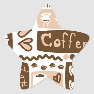 Java Java Java! Star Sticker