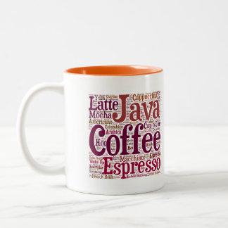 Java Jive Coffee Lover's Word Cloud Word Art Mug