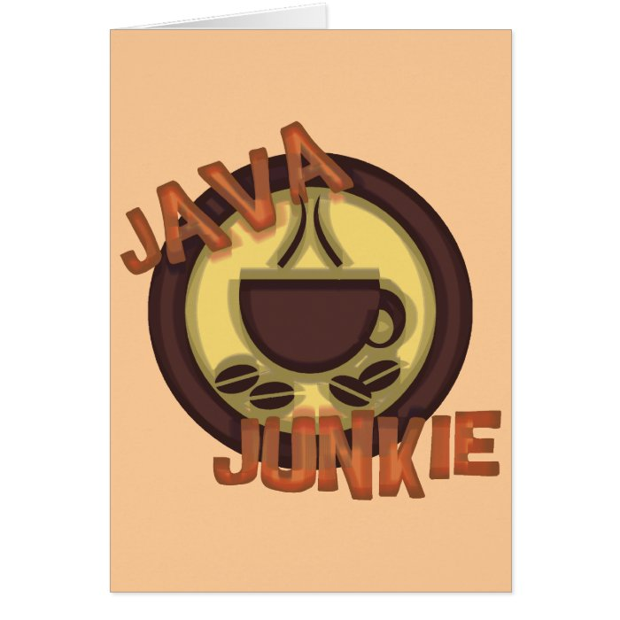 JAVA JUNKIE CARD